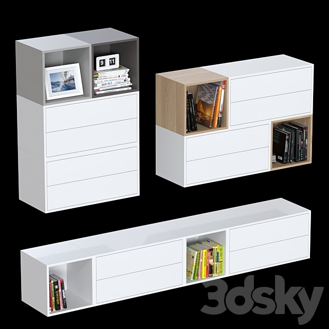 Combination wall cabinets IKEA Eket 6.