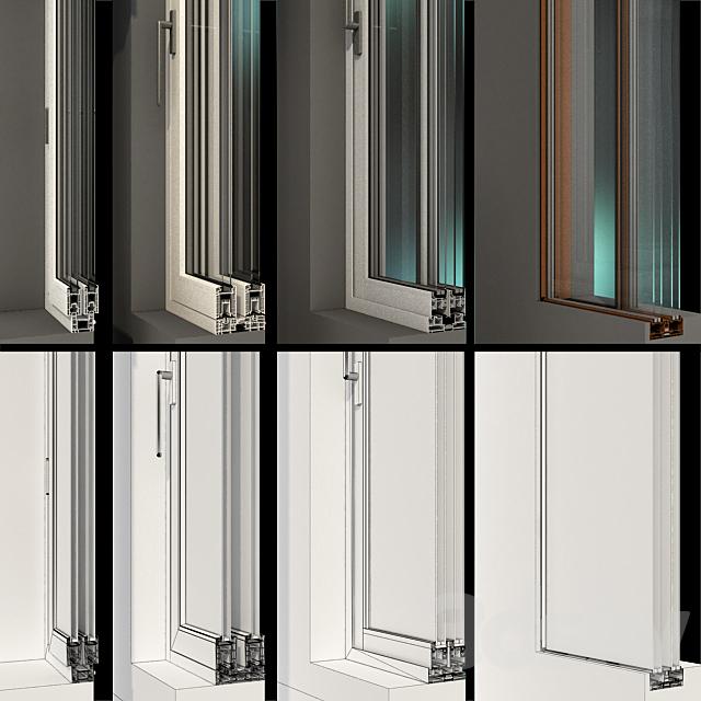 Sliding Stained Glass Aluminum Windows / Sliding Stained Glass Aluminum Windows