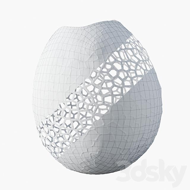 Unique Extra Large Lattice Vase By David Wiseman