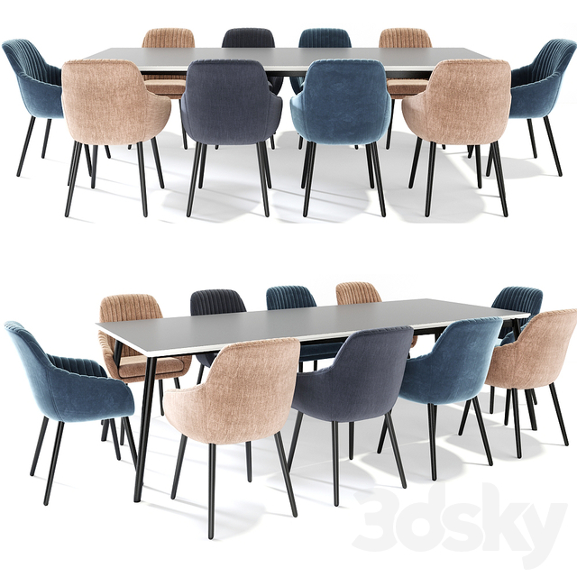 Rochelle Dining Table Chair Set
