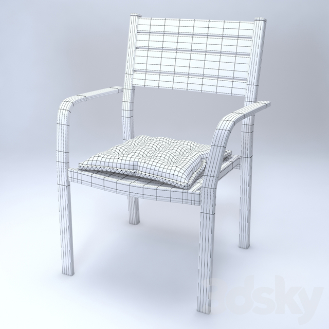 IKEA SJALLAND Chair with armrests GRAY