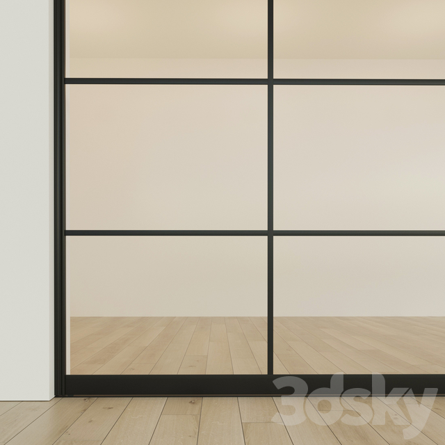 Sliding partition door 9