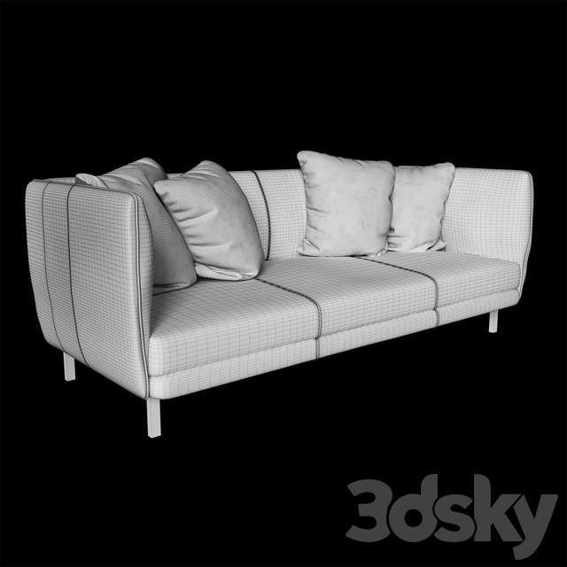 Tindra leather sofa_Uttermost