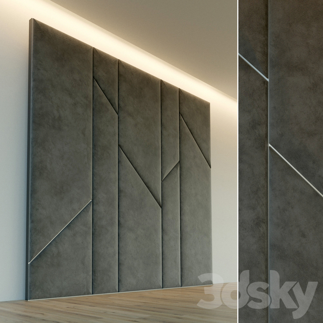 Decorative wall. Soft panel. 63
