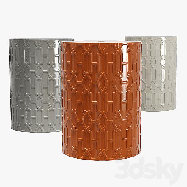 Homebeez round ceramic garden stool