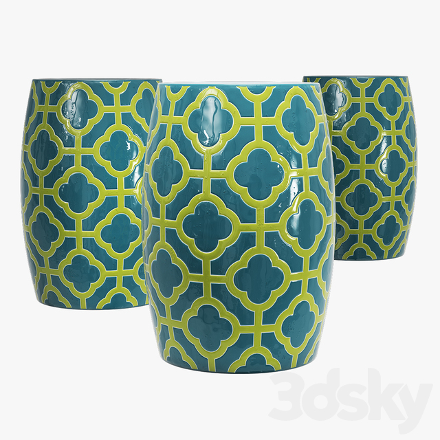 Idzior furniture quadra ceramic garden stool