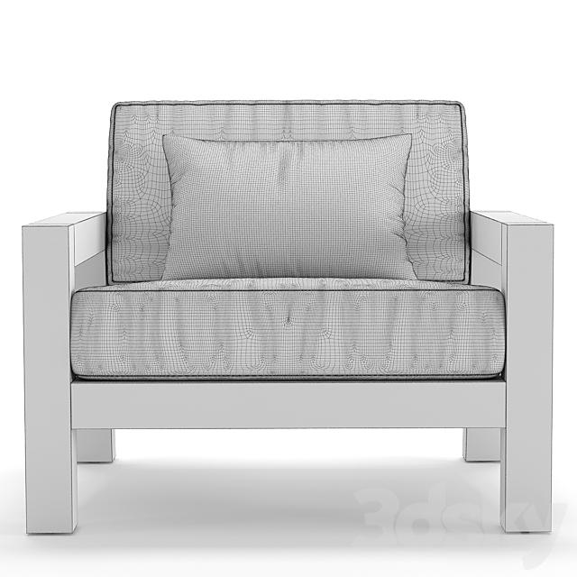 RH Outdoor Bonaire armchair