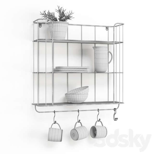 Industrial Shelf With Hooks