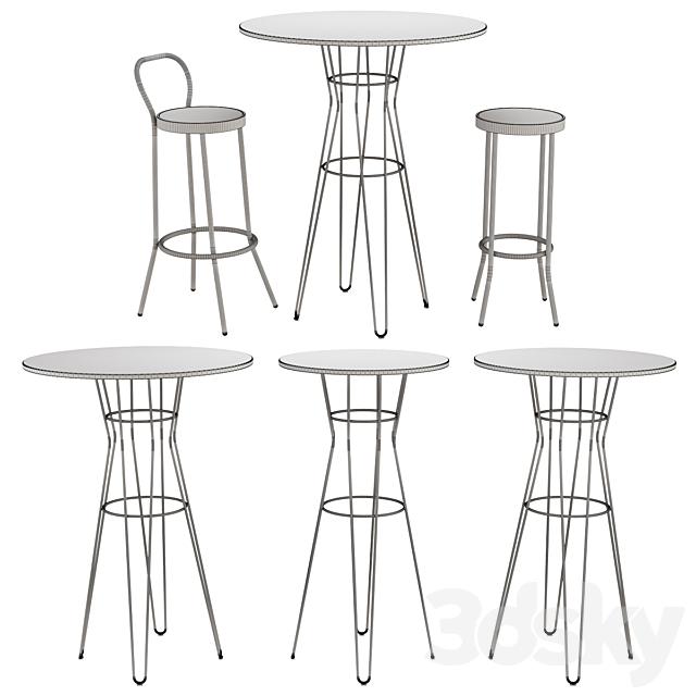 Puerto stool & Capri Table by Isimar