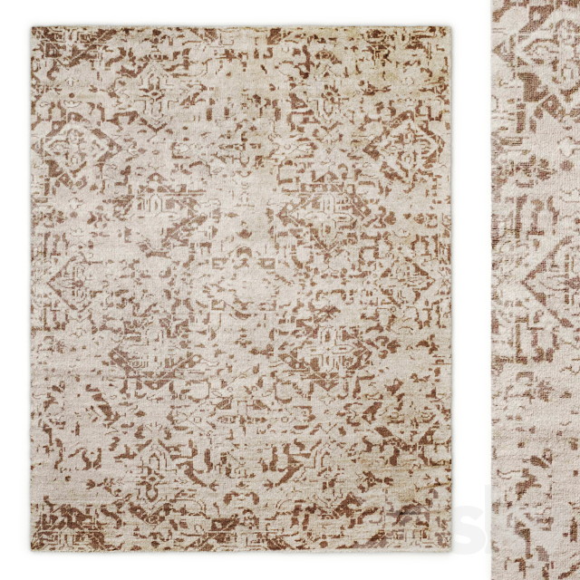 Camille Vintage Hand-Knotted Rug Baby and Child RH