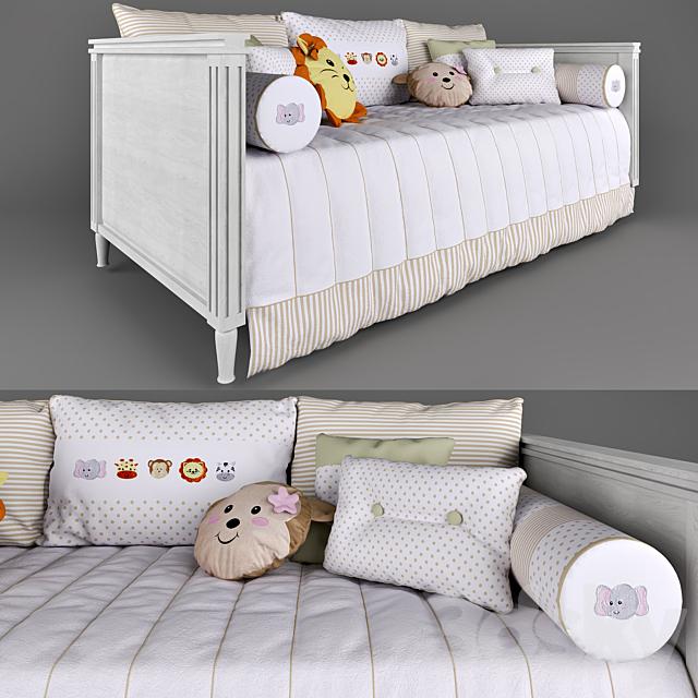 Tresor Amadeirada sofa bed and bedding Amiguinhas Safari Beige