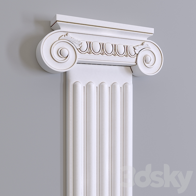 Pilaster Europlast. The capital: 1.21.006, The trunk: 1.22.020, Base: 1.23.200