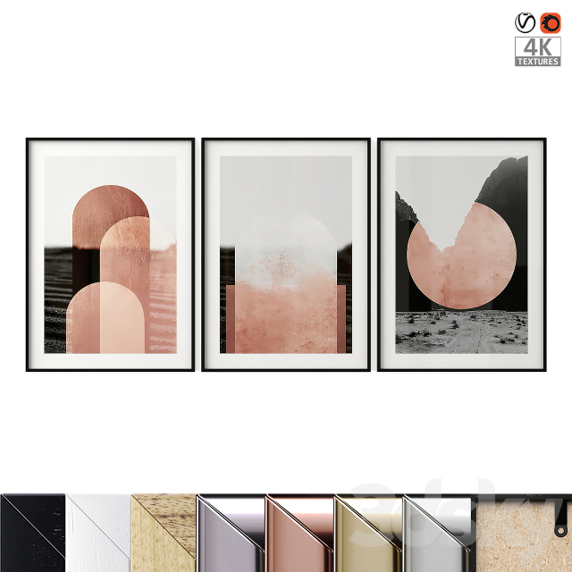 """Poster Set """"Graphic Arches"""""""