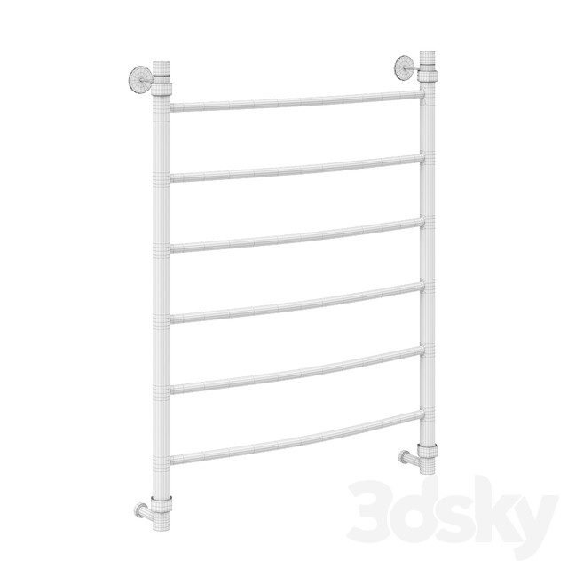 Water Classic 800x600 heated towel rail black amber (RAL 9005)