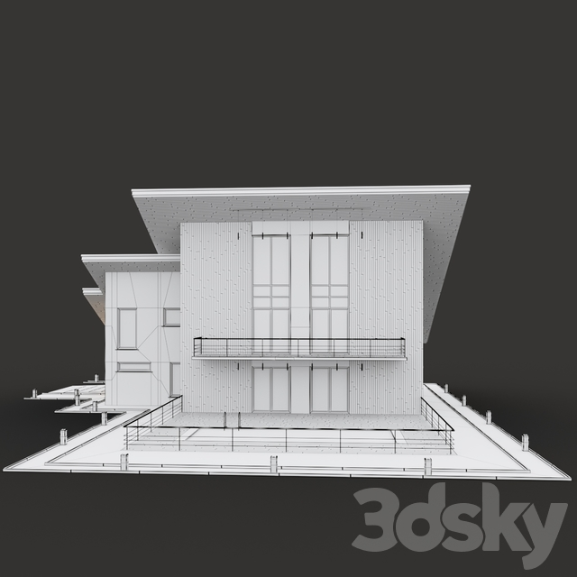 House with a two-level shed roof