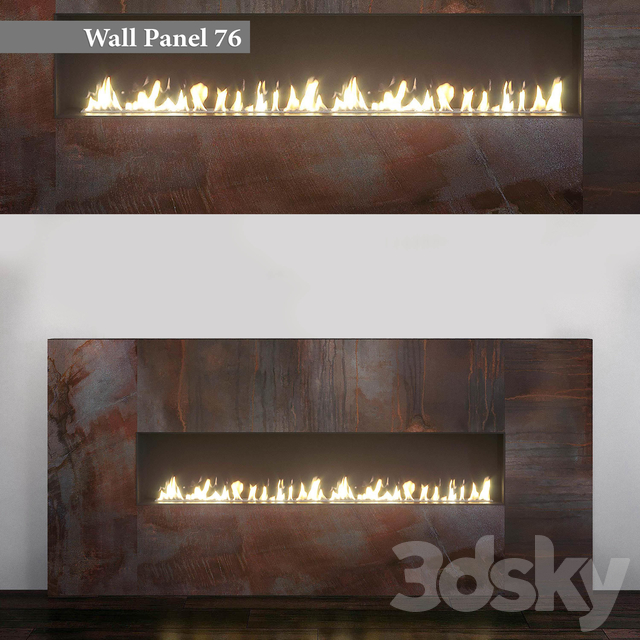 Wall Panel 76. Fireplace