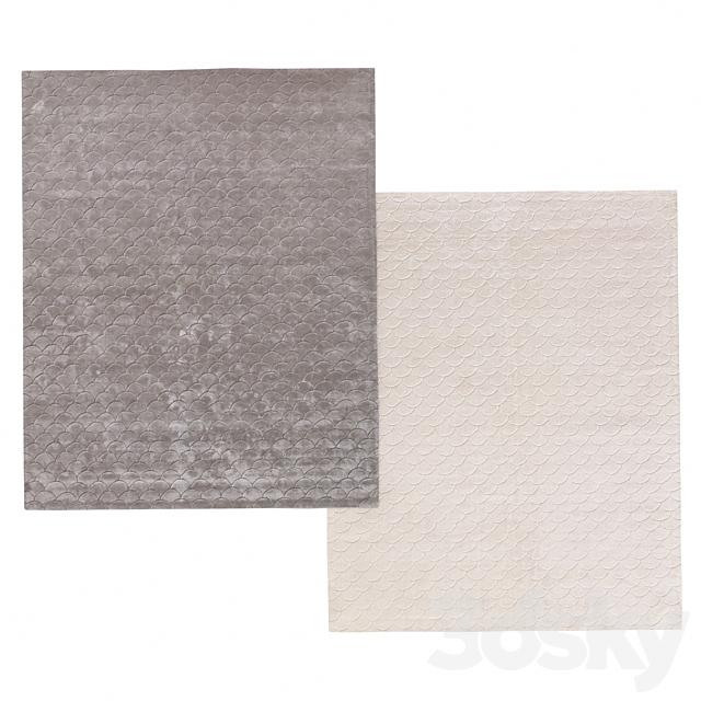 Carpet Scallop Handwoven by Restoration Hardware