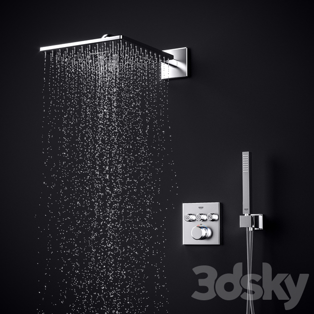 Grohe SmartControl Cube Shower System