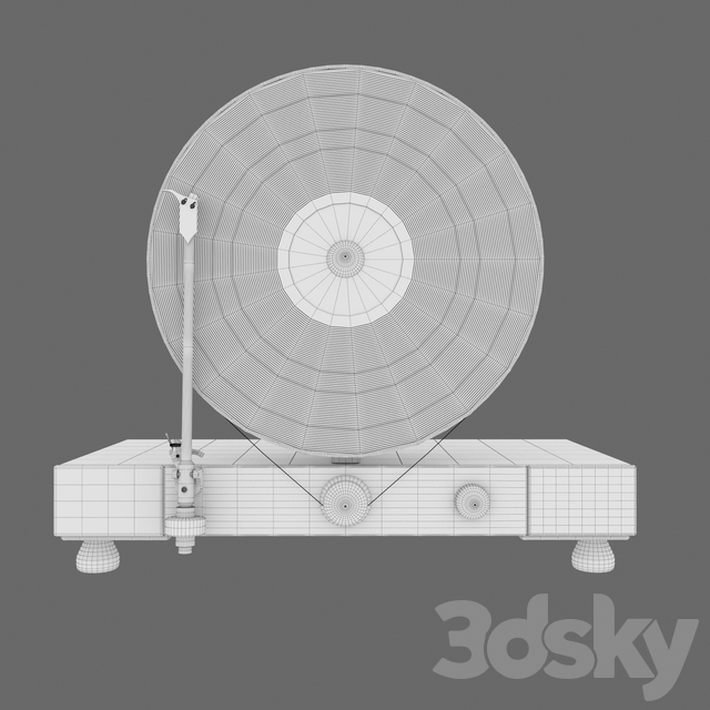 Floating Record Vertical Turntable