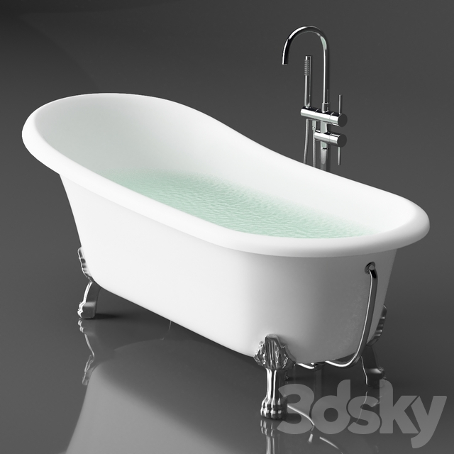Acrylic bathtub BelBagno BB04 + Gerhans faucet