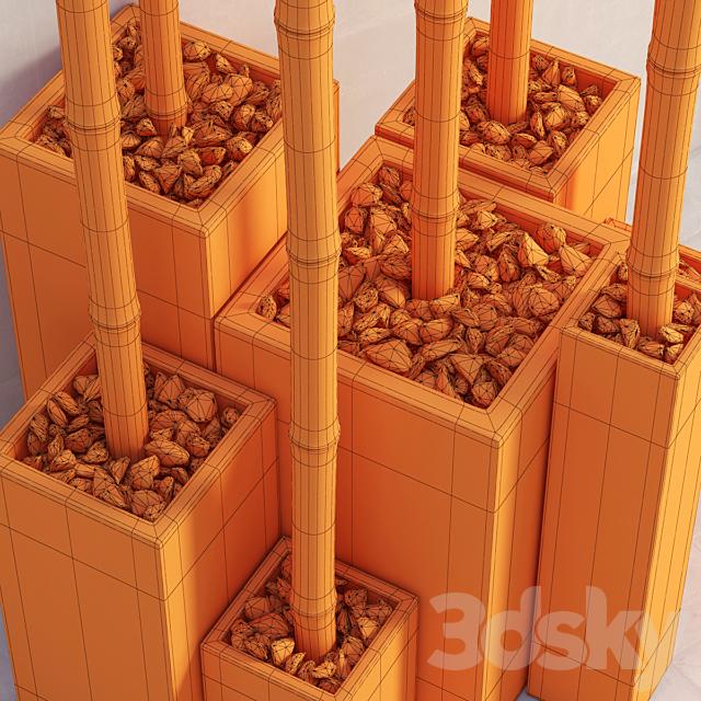 Bamboo decor color box / Bamboo decor in a color box