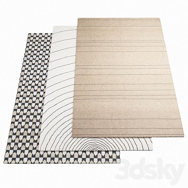 Three ASPLUND rugs - 1-8
