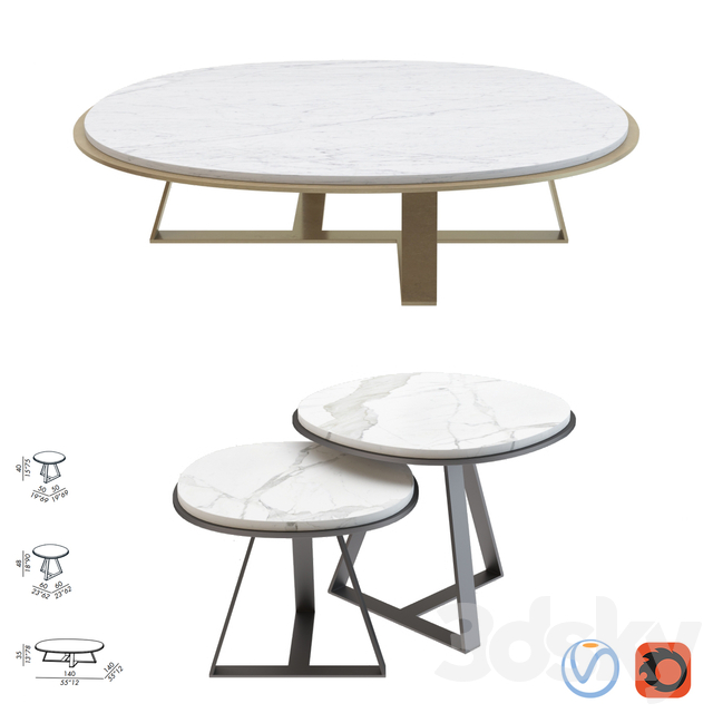 Meridiani Low Table Judd