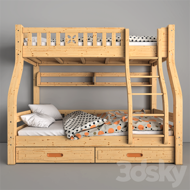 Lin Children wooden bunk