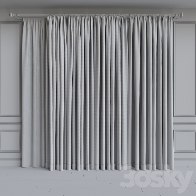 Set of curtains on the cornice 20. Gray range