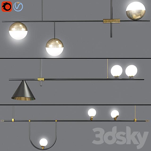 Ceiling Suspensions Light Set 02