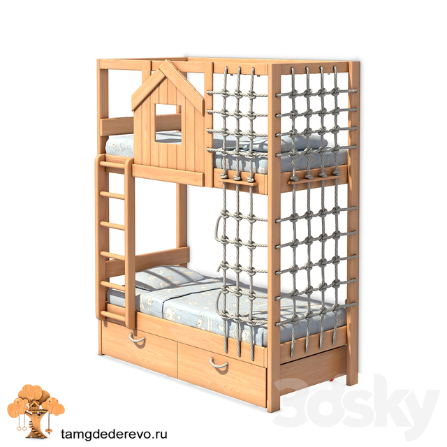 Children's bunk bed (model 201)
