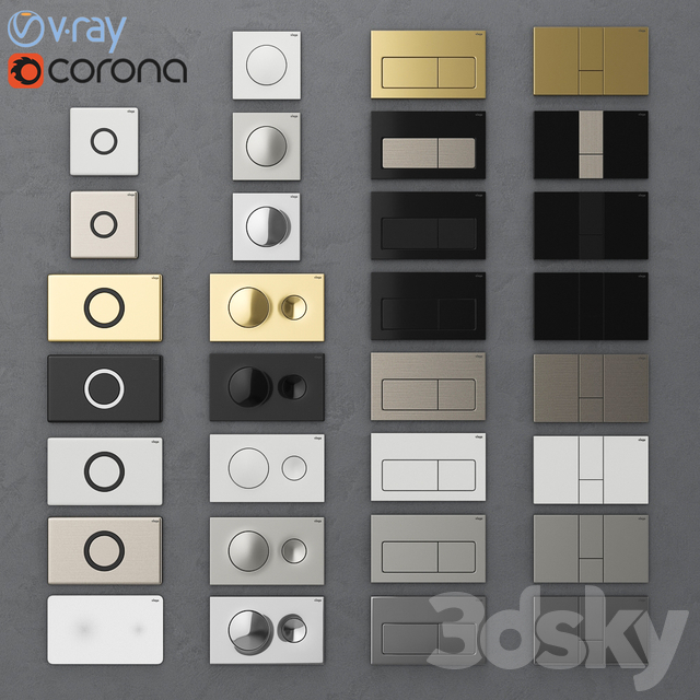 Flush buttons for installing Viega 1