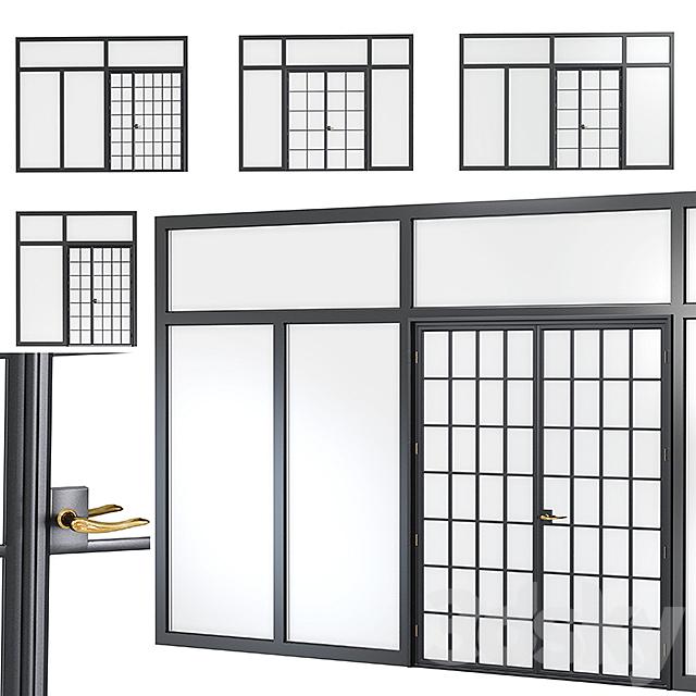 Steel door. Partition Set 3