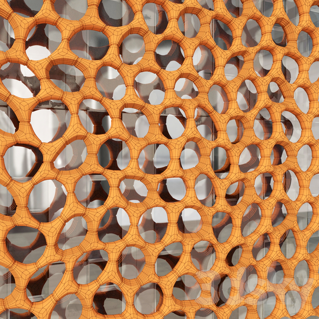 Bionica mesh facade / Bionica cage decor facade