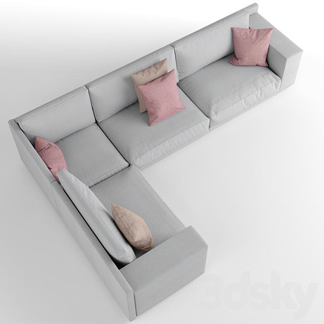 Novamobili Mac corner sofa