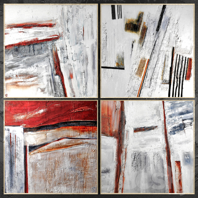 Paintings abstract   set 422