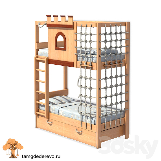 Children's bunk bed (model 207)
