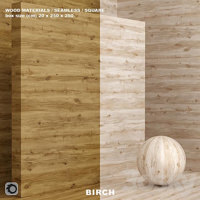 Wood / birch material (seamless) - set 74