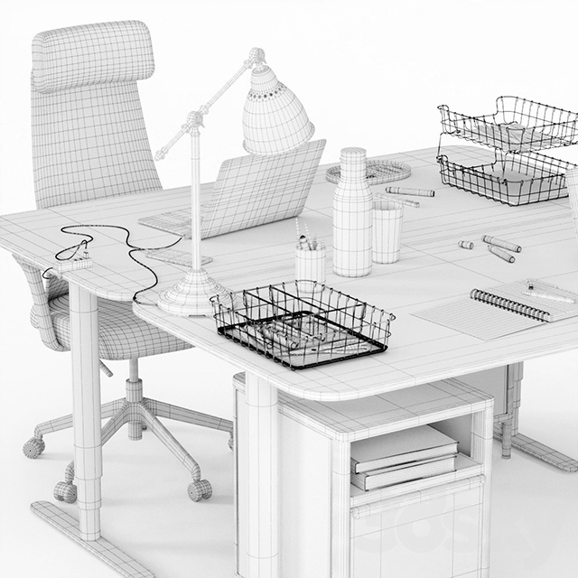 Ikea Bekant workplace part 1