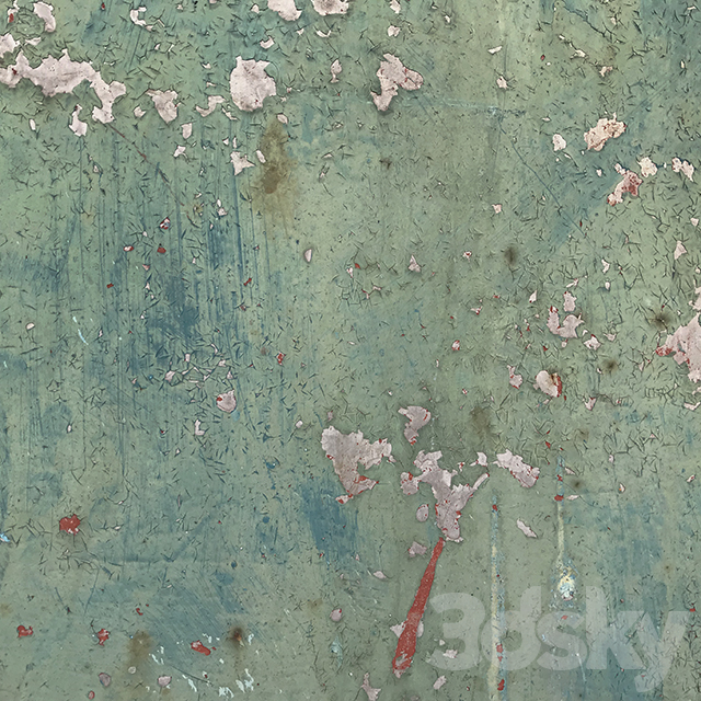 Teal metal surface