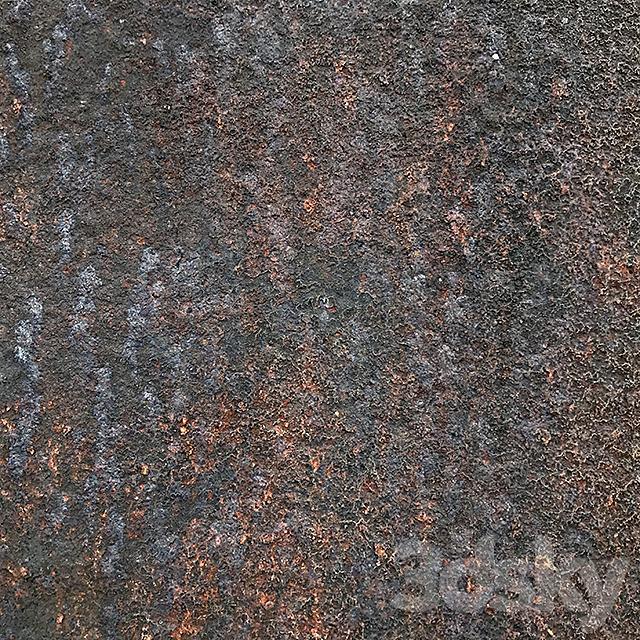 Textured rust metal