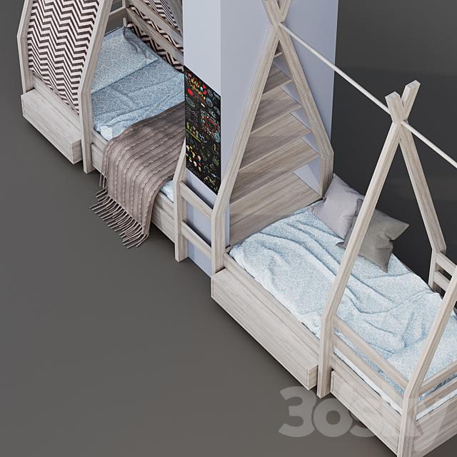 Children's bed - wigwam (house)