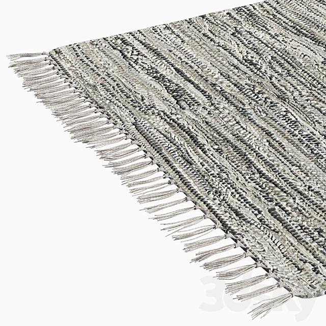 Patterned Woven Mat - Gray