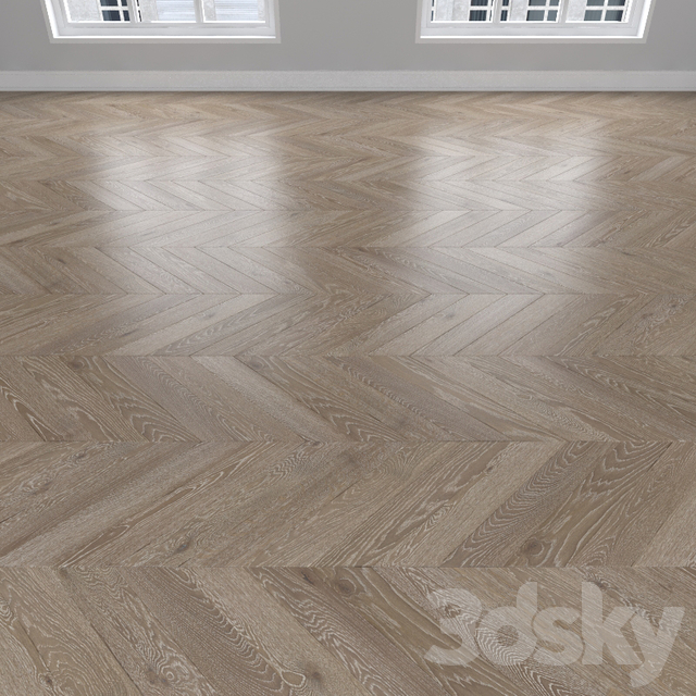 Parquet Oak, 3 types: herringbone, linear, chevron.