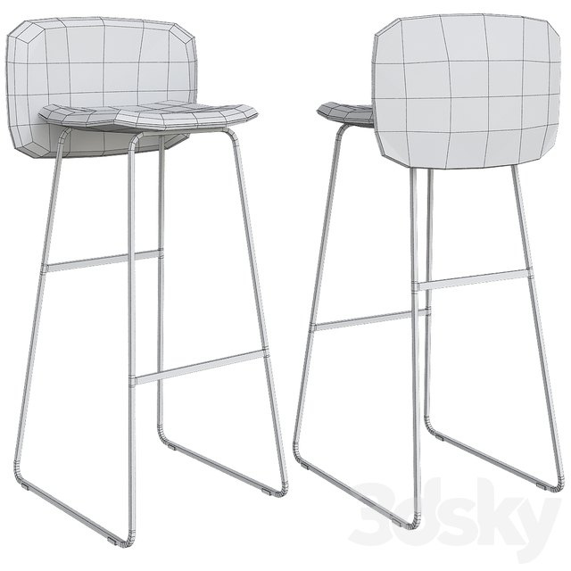 Chips by Chairs & More bar stool (low poly)