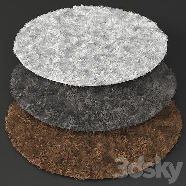 Carpets 02 Fluffy Round Carpet