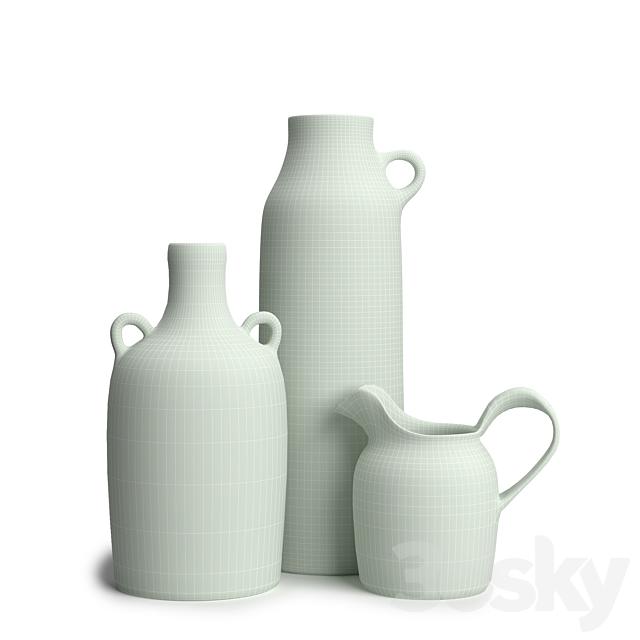 Vintage pottery set