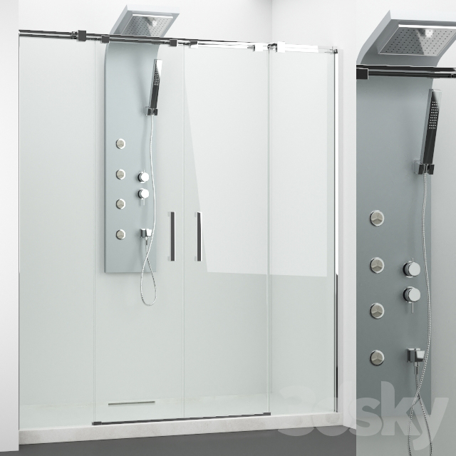 Set of shower cabins Radaway + Grohe 4