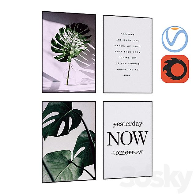 Flora Fern Art Canvas