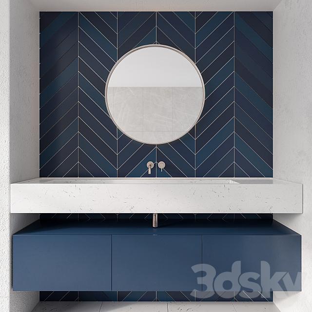 Bathroom Furniture Blue Tile